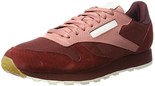 Urban Sandy Rugged Leather Sneakers Classic Rose Homme Reebok White Basses Rouge Maroon Descent Maroon Chalk qZEnv