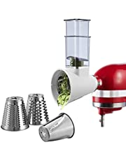 Slicer Shredder Attachment for KitchenAid and Cuisinart Stand Mixers SM-50BC/SM-50R/SM-50TQ/SM-50BL/SM-50BK, Vegetable Chopper Cheese Grater Salad Cutter Accessories,Dishwasher Safe