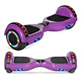 TPS 6.5' Chrome Hoverboard Electric Self Balancing Scooter with Bluetooth LED Lights UL2272 Certified (Purple)