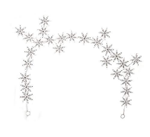 - Wiipu Romantic Star Crystal Rhinestone Tiara Bridal Hair Accessories (A1717) (silver)