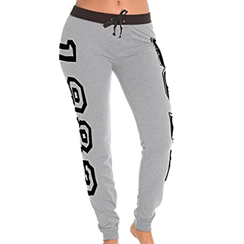 [E172P-HG-L] Coco-Limon Womens Jogger, French Terry, Long, Grey, Large