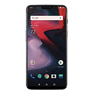 OnePlus 6 A6000 64GB/6GB Mirror Black – Dual Back Cameras, Face & Fingerprint Identification, 6.28″, Android 8.1 – International Version – No Warranty in The USA – GSM ONLY, NO CDMA