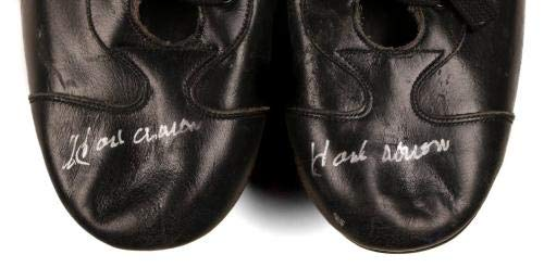 Hank Aaron Braves HOF 2x's Signed Vintage Pair Of Cleats/Shoes LOA JSA Certified Autographed MLB Cleats