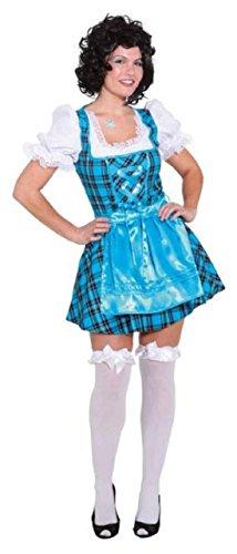 (Ladies Blue Tavern Girl Oktoberfest German Bavarian Serving Wench Beer Girl National Dress Fancy Dress Costume Outfit (UK 8 (EU)