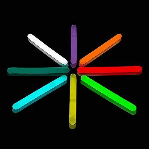 Lumistick 2 Inch Mini Glowsticks - Ultra Bright Glow in The Dark Party Favors Neon Light Sticks - Illuminating Water Proof Fluorescent Sticks (Assorted, 100 Glow Sticks)
