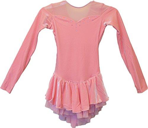 Chloe Noel Figure Skating Velvet Double Layer Mesh Skirt Dress DLV04