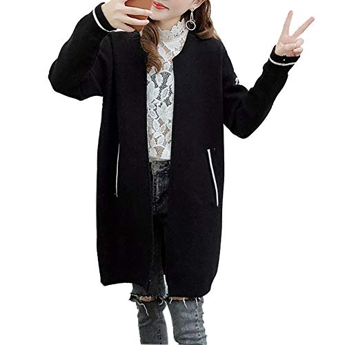 シロイワ ロングカーディガン カーディガン レディース ニットコート ロング 長袖 単色 トップス ポケット付き シンプル 羽織る 通勤 通学 ゆったり セーター ロングコート