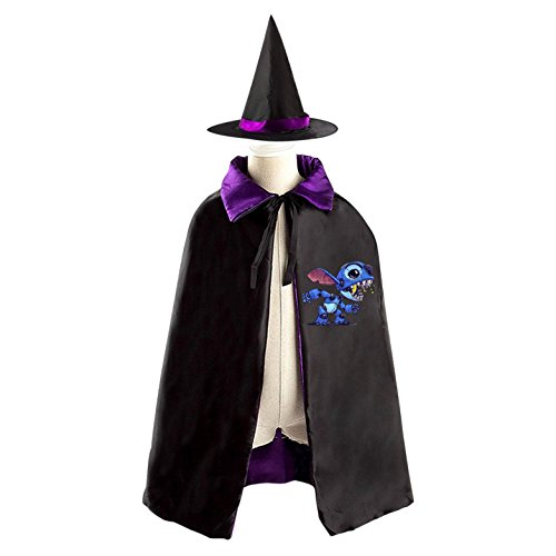 Jumba Jookiba Costume (Monster Kid Halloween Cloak Vampire Cape Witch Hat Cosplay)