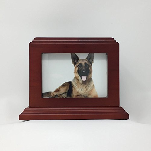 Eternal Rest by Sempré Pet Urn Peaceful Pet Memorial Keepsake Urn,Photo Box Pet Cremation Urn,Dog Urn,Cat Urn,Small Animal Urn, Color,Cherry, Size, 50 cu.in