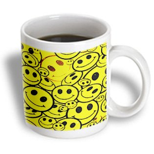 3dRose Smiley Faces Mug, 15-Ounce