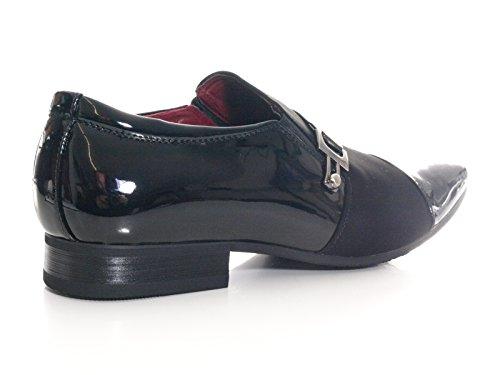 Herren Business Schuhe Schwarz # 211-9