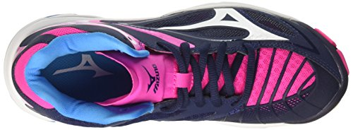 Women's Wave W White Z3 Multicolor Volleyball Shoes Mizuno Pinkglo Mid Peacoat Lightning U7wXWqf