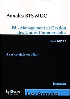Annales BTS MUC