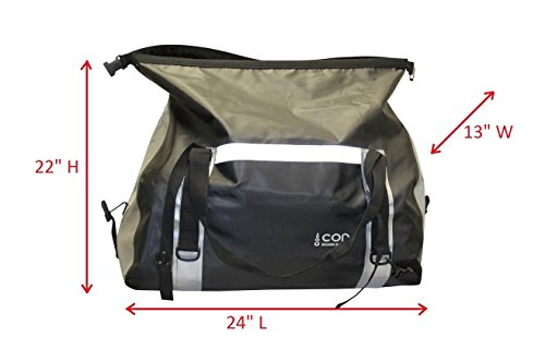 COR Waterproof 60L Duffel Bag 100% Waterproof Dry Bag Duffel Bag - Lightweight, Durable, Comfortable, Versatile Perfect for Kayaking, Rafting, Travel, Surfing, Skiing (Black and Green)