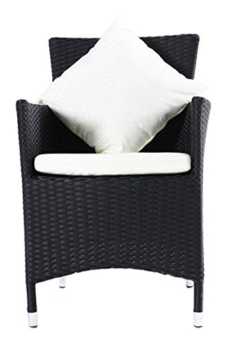 outflexx sessel aus polyrattan inkl kissen und polster 2er set in schwarz g nstig bestellen. Black Bedroom Furniture Sets. Home Design Ideas