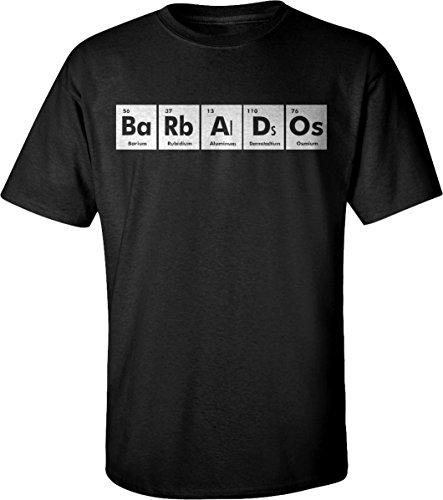 BARBADOS Periodic Table Chemistry Funny Adult Unisex T-Shirt for Men and Women x1