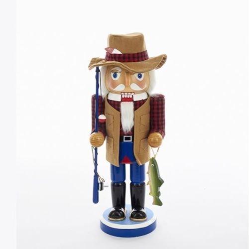 Kurt Adler C5849 15'' Wooden Fisherman Nutcracker