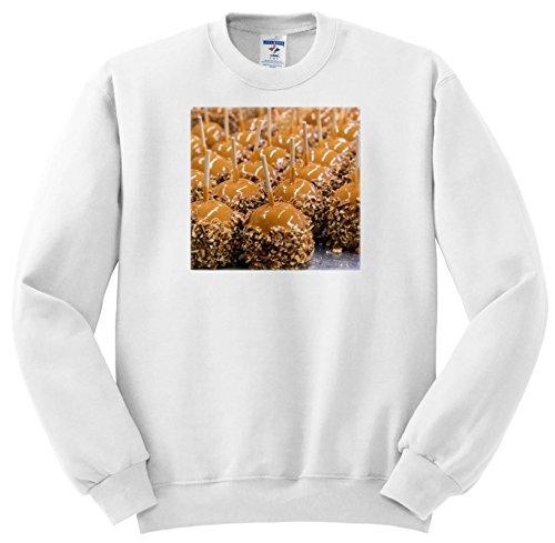 3dRose Danita Delimont - Food - Carmel Apples For Sale, Savannah, Georgia - Sweatshirts - Youth Sweatshirt Small(6-8) (SS_278913_10)