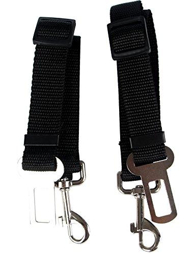 PUSTOR Adjustable Strap Dog Seat Belt Leash Pet Safety Leash Buckle Cars Pack of 2