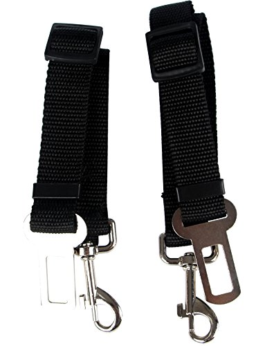 PUSTOR Adjustable Strap Dog Seat Belt Leash Pet Safety Leash Buckle Cars Pack of 2 Review