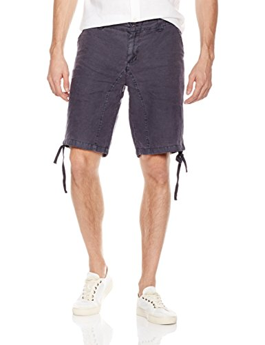 Dyed Shorts (Isle Bay Linens Men's Linen Garment Dyed Short 38 Charcoal Grey)