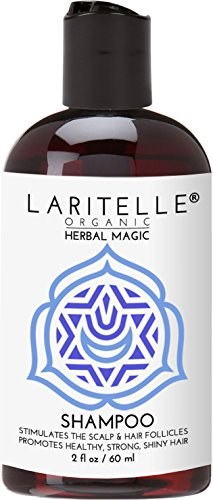 Laritelle Organic Travel Size Shampoo 2 oz | Hair Loss Prevention, Clarifying & Strengthening | Rosemary & Saw Palmetto | NO GMO, Sulfates, Alcohol, Parabens, Phthalates | Unscented. Hypoallergenic GF