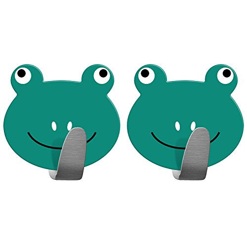 Tatkraft Frogs Stark Selbstklebend Edelstahl Handtuchhaken Badezimmer Kinderzimmer 2tk