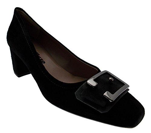 Daim MELLUSO Cour Article Boucle M5212 Chaussure Noir rqCIqZg