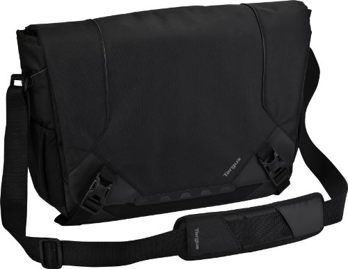Targus Drifter Messenger fits up to 16-Inch Laptop, Black/Gray (TSM673US), Bags Central