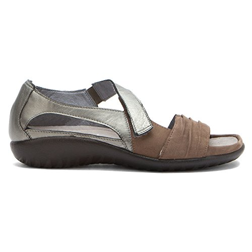 Naot Footwear Womens Papaki Shiitake Nubuck/Sterling k8XRWVfkw