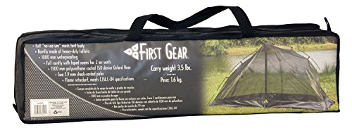 """First Gear - Cliff Hanger - Solo Tent 7 Sleeps 1 - 6'7"""" x 2'5"""" x3'7"""" Taped fly and floor seams Full coverage fly completely surrounds the tent"""