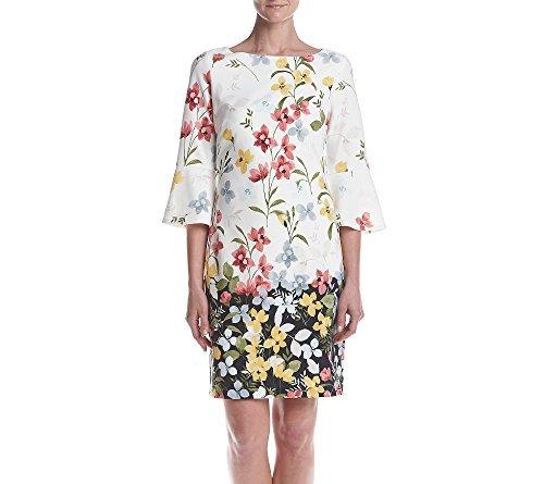 Jessica Howard Women's Floral Bell Sleeve Shift Dress, Ivory Multi, 10