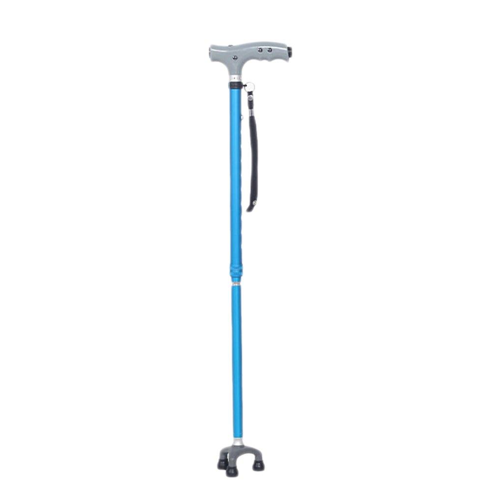 XUEPING 杖の高齢者のインテリジェント松葉杖と青い光を回転させる小さな3フィートのリトラクタブルウォーキングスティック調整範囲76 Cm -98 Cm B078Z958BV