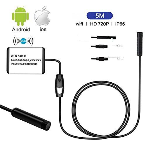 Uvistar Endoskop Camera Inspektionskamera 5M mit Monitor für Handy Smartphone iphone Endoskopkamera USB WIFI Android HD IOS OTG Wasserdicht 2MP Rohrkamera mit Greifer Beweglich Dünn Flexibel