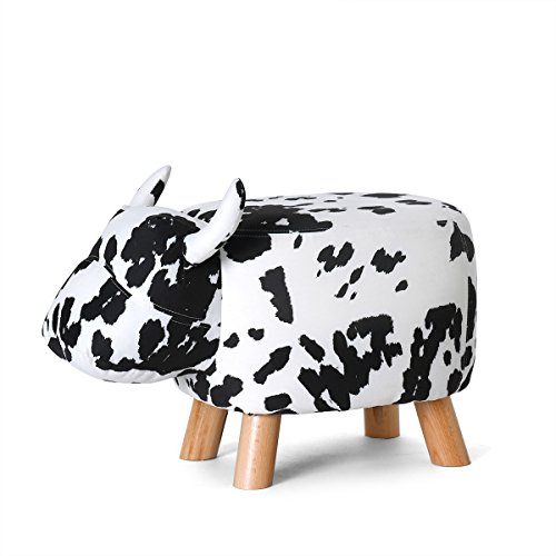 Bon Fjfz Decorative Ottoman Stool Cow Figure Shoe Changing Bench For Kids Toy  Living Room Furniture