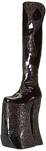 Devious Pleaser Women's Spla3020/B-g Boot - Black Patent-...