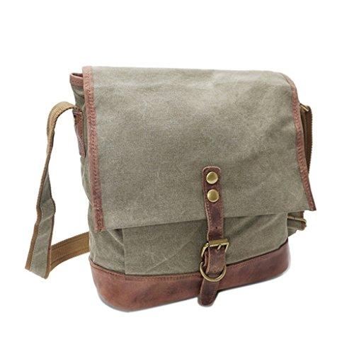 Sucastle Retro bag casual bag shoulder bag Messenger bag canvas bag Sucastle Colour:ArmyGreen Size:31x28x12cm