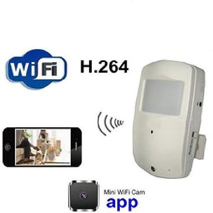 Agente007 - Detector De Movimiento / Presencia Espia Con Camara Oculta Inalambrica Wifi P2P Y Vision