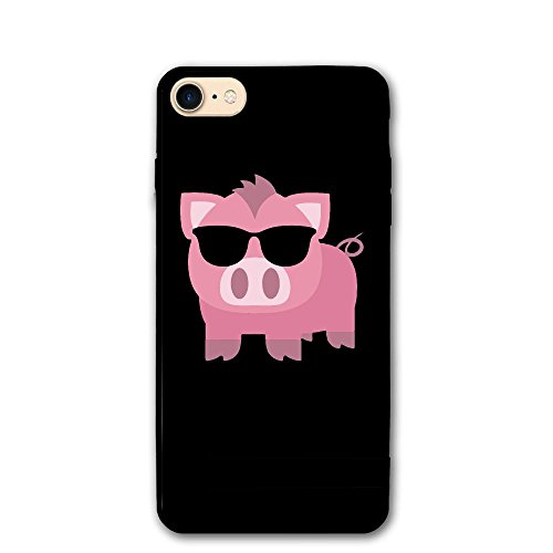 Cool Pink Sunglasses Pig Classic Shell Full Protective Back Case Cover For Apple IPhone - Pig With Sunglasses