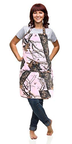 Realtree-Mossy-Oak-Apron-Unisex-S-2XL-Mens-Womens-Sturdy-Twill-Camo-Apron-Mossy-Oak-BU-Pink-Apron