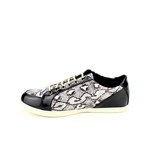 Noir Baskets Reptiles Cendriyon Zaho Femme Chaussures q0adFZw