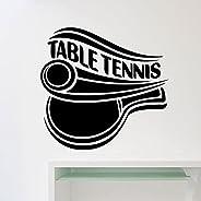 Table Tennis Logo Wall Decal Sports Ping Pong Door Window Vinyl Sticker Interior Decoration for Teens Bedroom