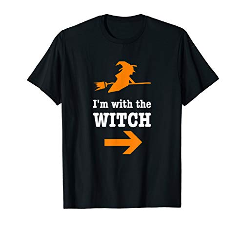 Men's Halloween Couples Costume Shirt I'm With The Witch -