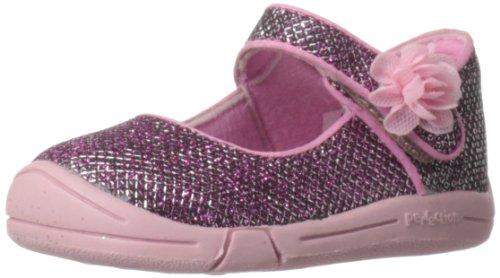 Jumping Jacks Sylvia Mary Jane (Toddler),Pink Glitter/Pink Trim,5 M US Toddler