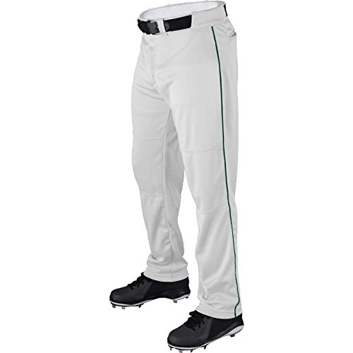 - Wilson Youth Classic Relaxed Fit Piped Baseball Pant, White/Dark Green, Large