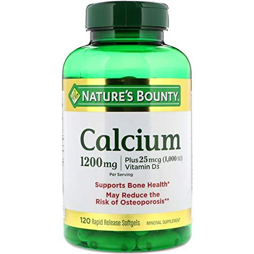 Nature's Bounty Calcium 1200mg, 1000 IU Vitamin D3 - 120 Rapid Release Softgels