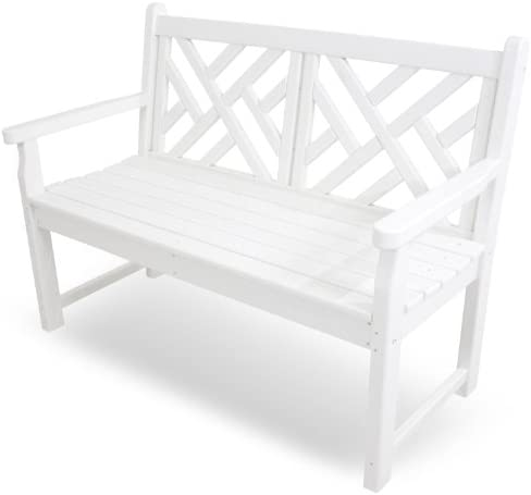 POLYWOOD CDB48WH Chippendale 48 Bench, White