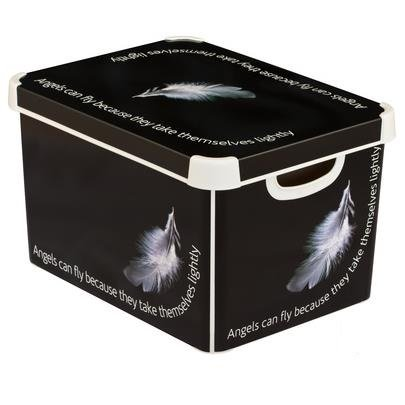CURVER Decorative Plastic Storage Box With Coverlid Angel Cover Delectable Decorative Plastic Storage Boxes