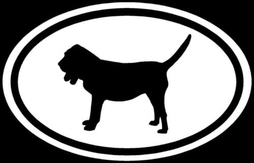 Bloodhound Sticker Dog Puppy Decal White Oval Window - Die cut vinyl decal for windows, cars, trucks, tool boxes, laptops, MacBook - virtually any hard, smooth (Bloodhound Sticker)