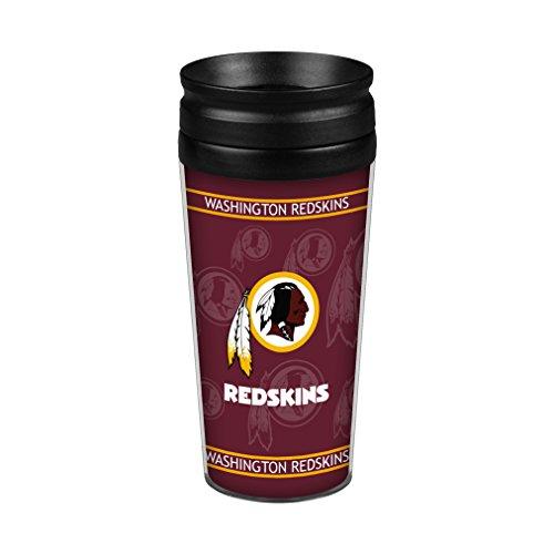 Boelter Brands NFL Washington Redskins Full Wrap Travel Tumbler, 14-Ounce, Red